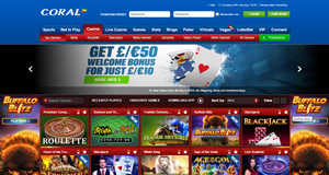 Coral Casino homepage