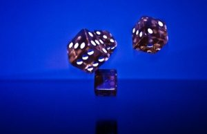 dices on blue