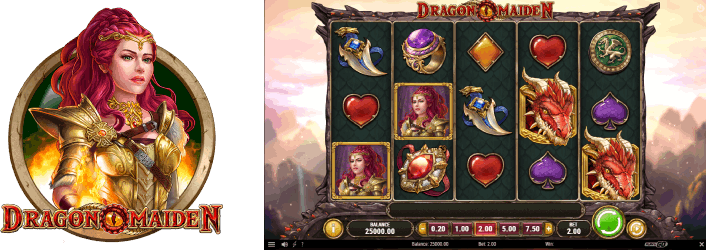 Dragon Maiden Slot is made by Play'n GO software
