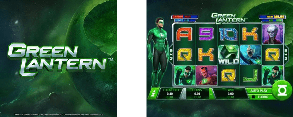 Green Lantern is a slot from Playtech with a 5x3 reel layout