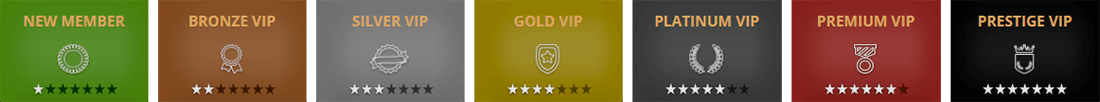"The ""Exclusive Club"" at Hopa Casino has 7 VIP tiers"