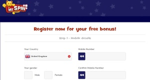 Mr Spin Casino registration