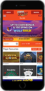 The Reel Vegas casino website is mobile optimised so you can play anywhere you want