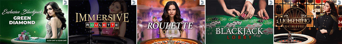 You can play many popular live dealer games at Spinit Casino