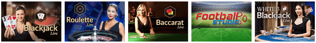 You'll find one of the largest live games collection at Trada Casino live section