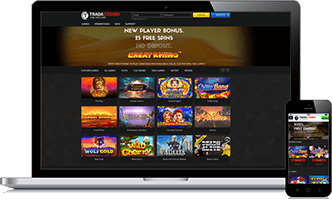 The Trada Casino mobile platform allows you to play hundreds of games on the go